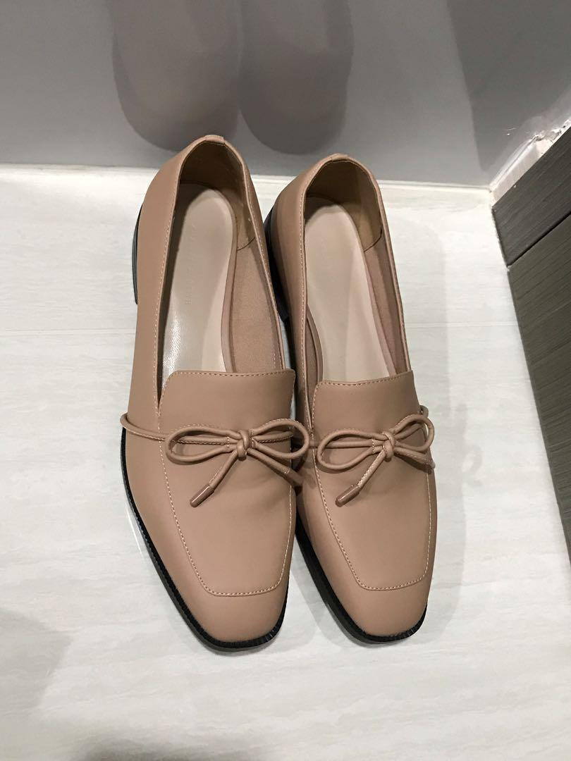 Dusty pink loafers