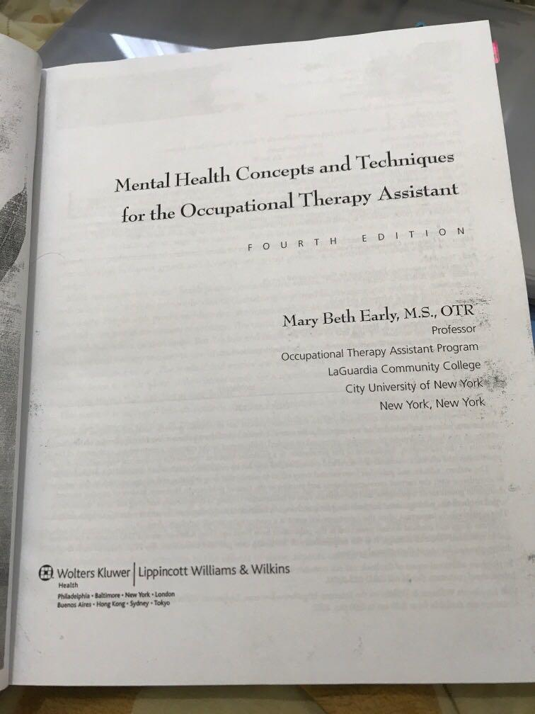 Early's Mental Health Concepts and Techniques for the Occupational Therapy Assistant
