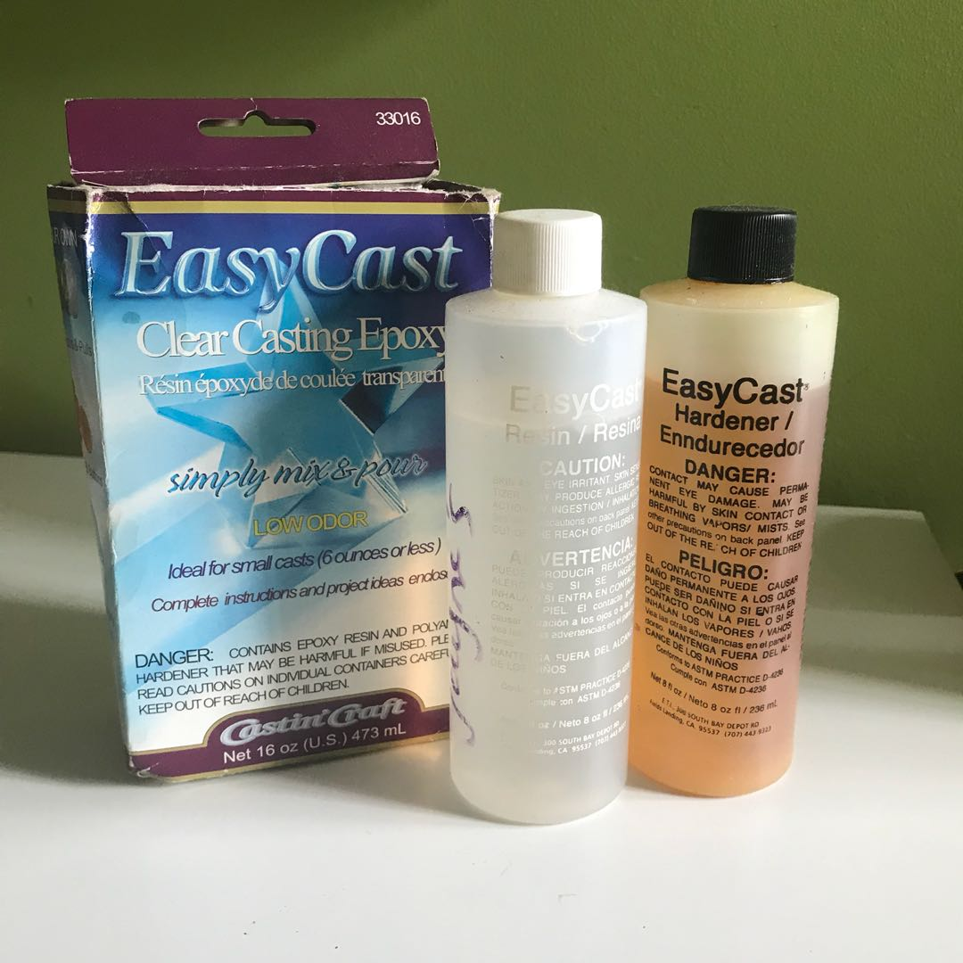 easy cast resin set epoxy clear casting, Design & Craft