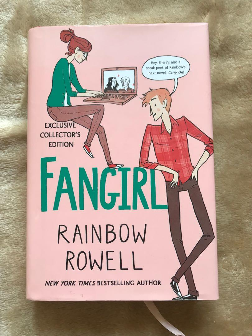 Fangirl Collector's Edition by Rainbow Rowell (Hardbound) Simon and Baz fanart included