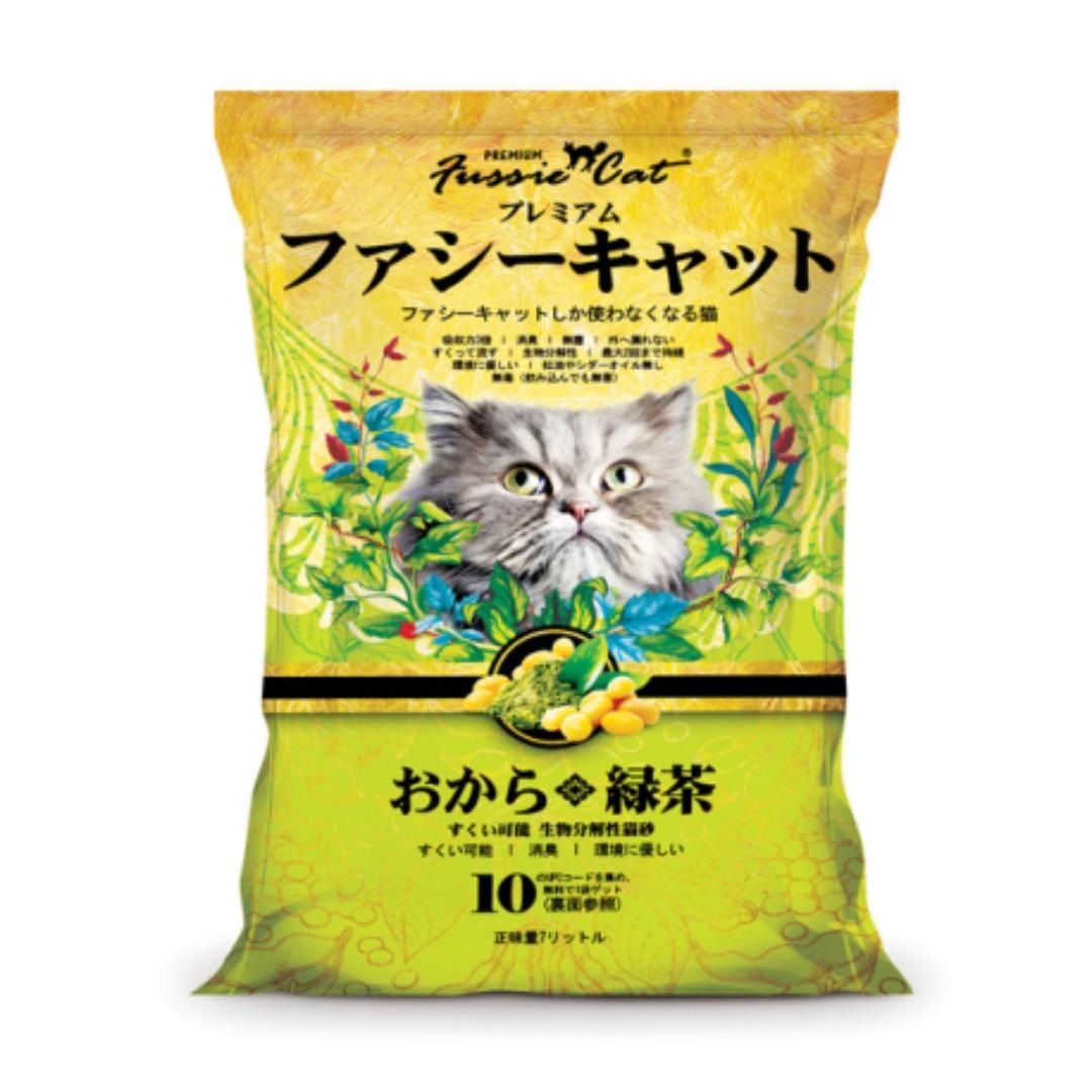 Fussie Cat 綠茶味豆腐貓砂 - 7 公升