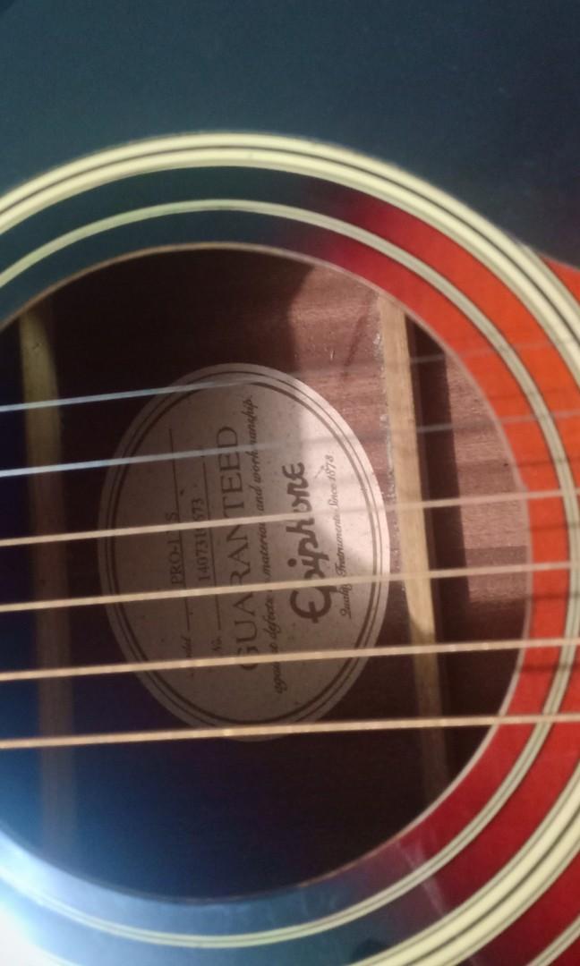 gitar akustik (epiphone pro-1 (original)