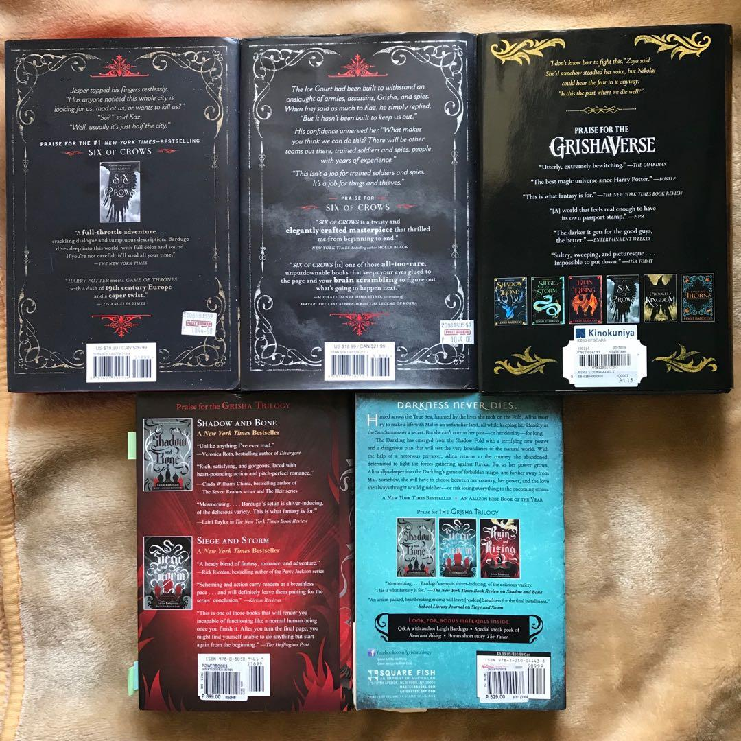 Grishaverse Set (Siege and Storm, Ruin and Rising, Six of Crows, Crooked Kingdom, King of Scars) by Leigh Bardugo