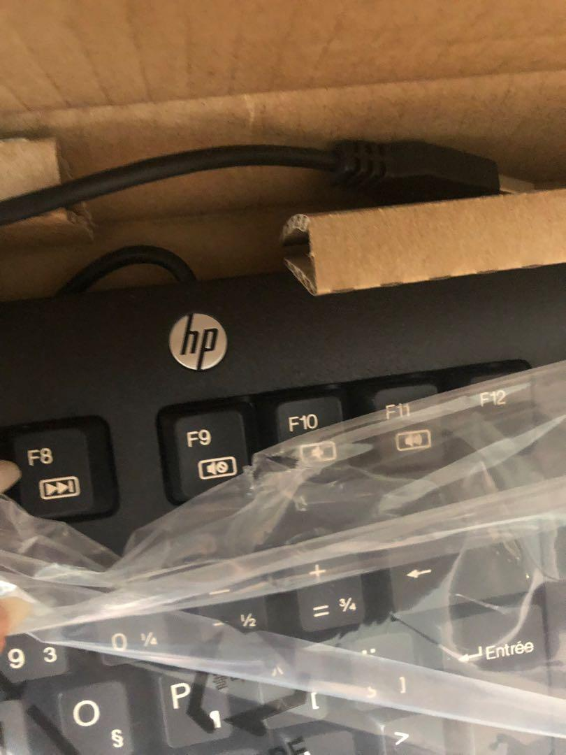 HP USB laptop and mouse