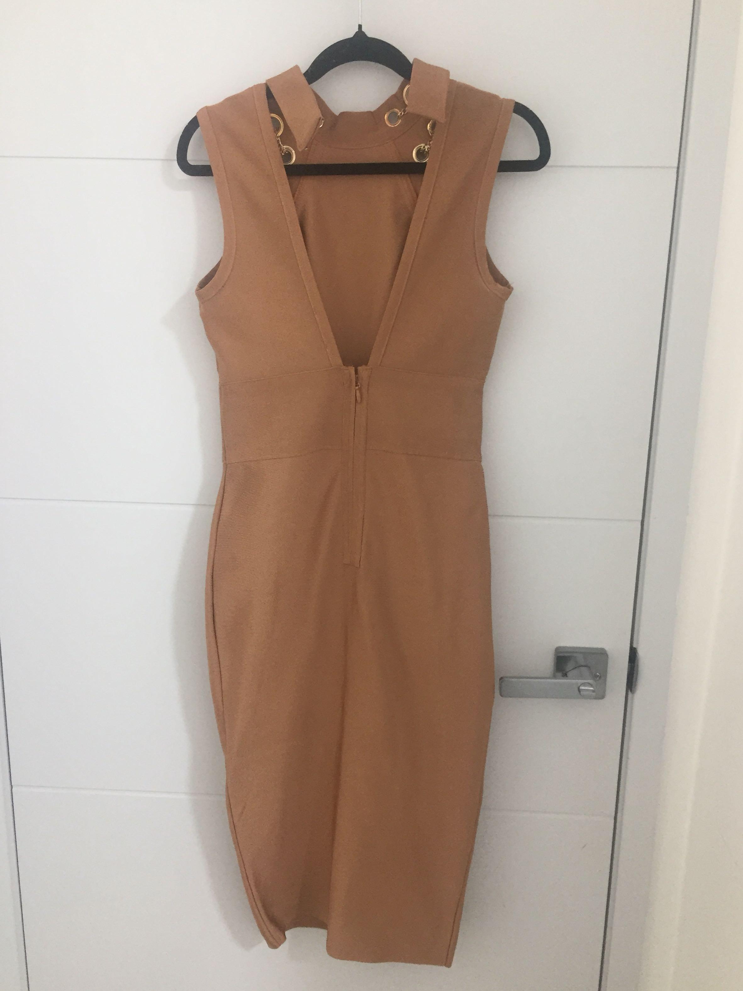 Mocha Middi Bandage Dress S Fashion Nova brand new with tags