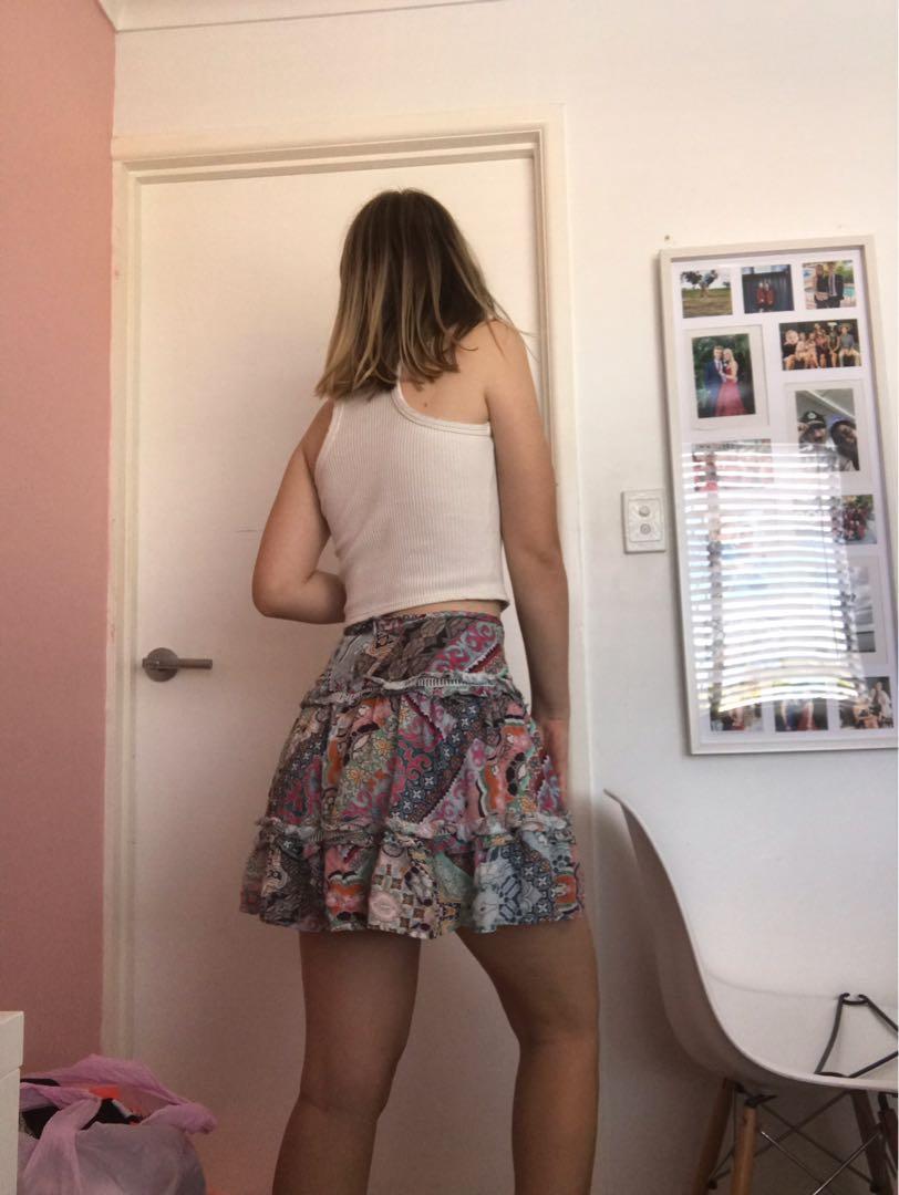 Multicoloured Mini Skirt