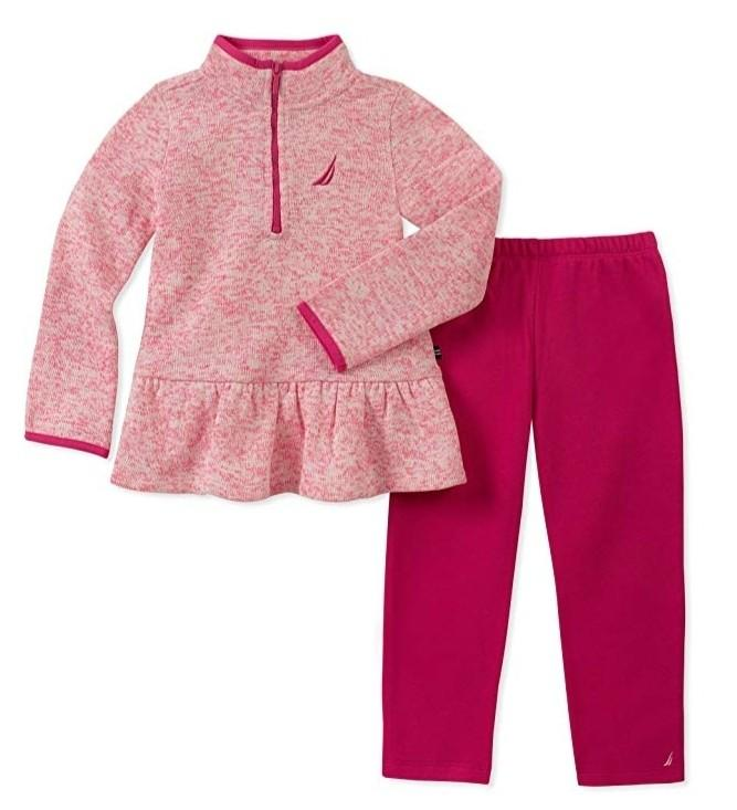 Nautica Baby Girls Pink 2 piece Tracksuit Set Size 6-9 months
