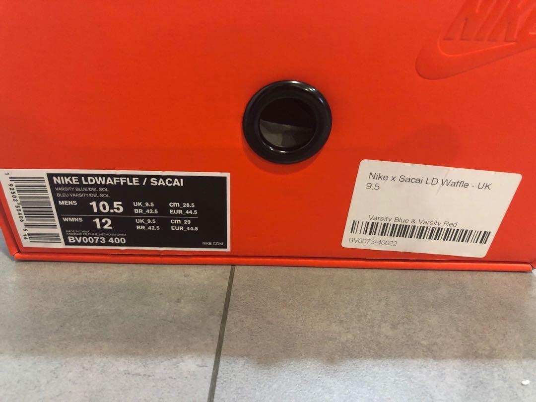 Nike sacai waffle us10.5