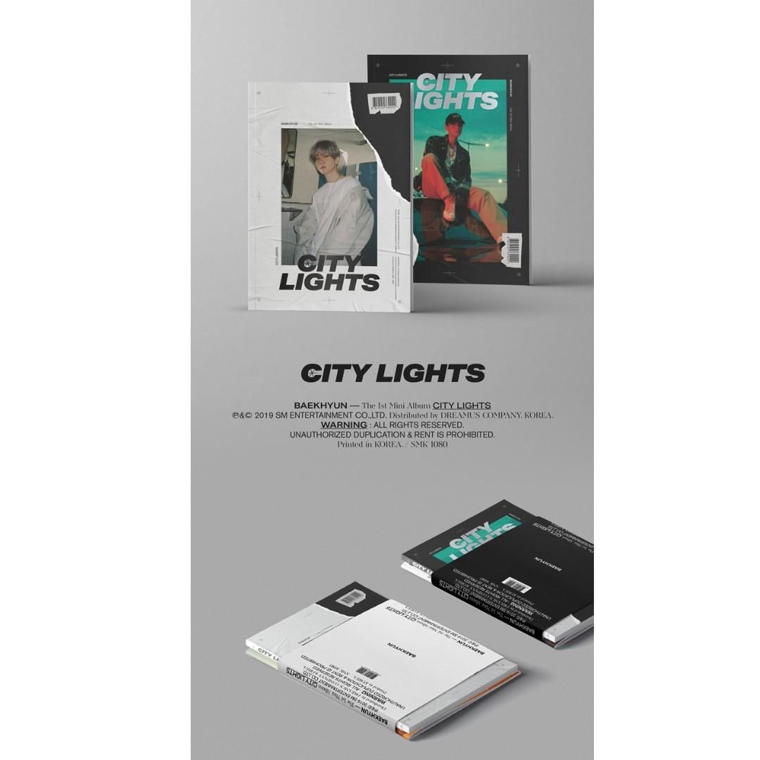 [PREORDER] Baek Hyun 백현 - CITY LIGHTS / 1ST MINI ALBUM