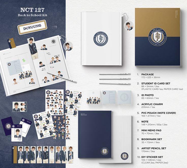 [Pre-order] NCT127 - BACK TO SCHOOL KIT 回归校园套装 (Versions 版本:TAEIL || JOHNNY || TAEYONG || YUTA || DOYOUNG || JAEHYUN || JUNGWOO || MARK || HAECHAN)