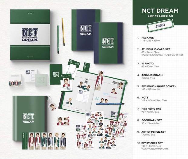[Pre-order] NCT DREAM - BACK TO SCHOOL KIT 回归校园套装 (Versions 版本:RENJUN || JENO || HAECHAN || JAEMIN || CHENLE || JISUNG)