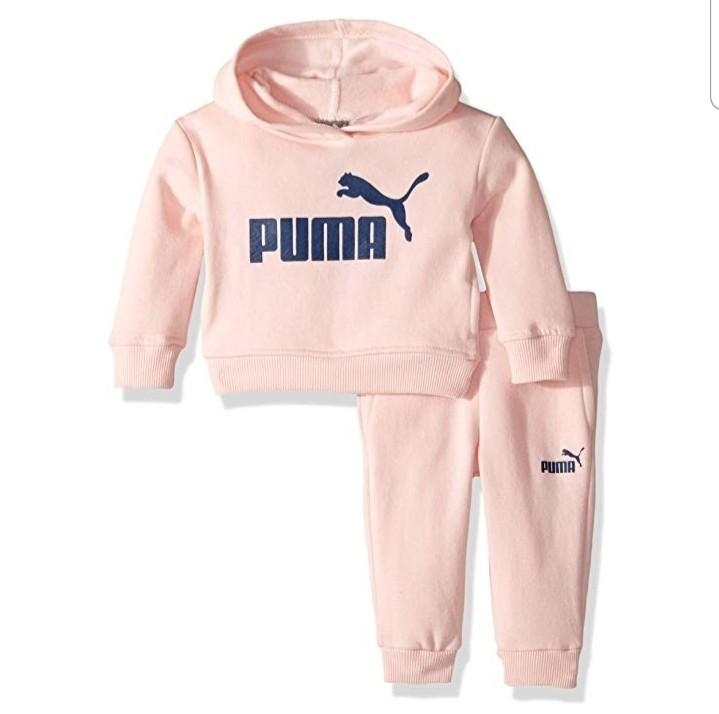 PUMA Baby Girls baby Pink Tracksuit Set Size 0-3 months