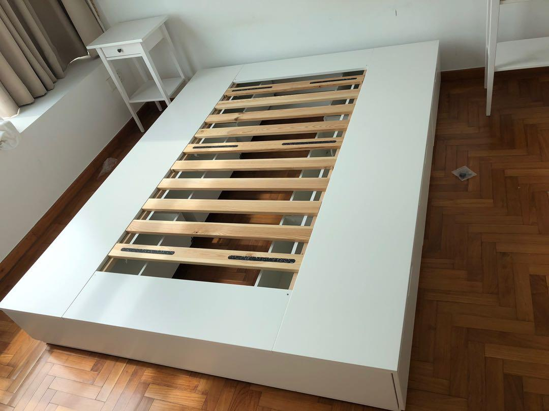 Picture of: Queen Platform Bed Frame Ikea Nordli Furniture Beds Mattresses On Carousell