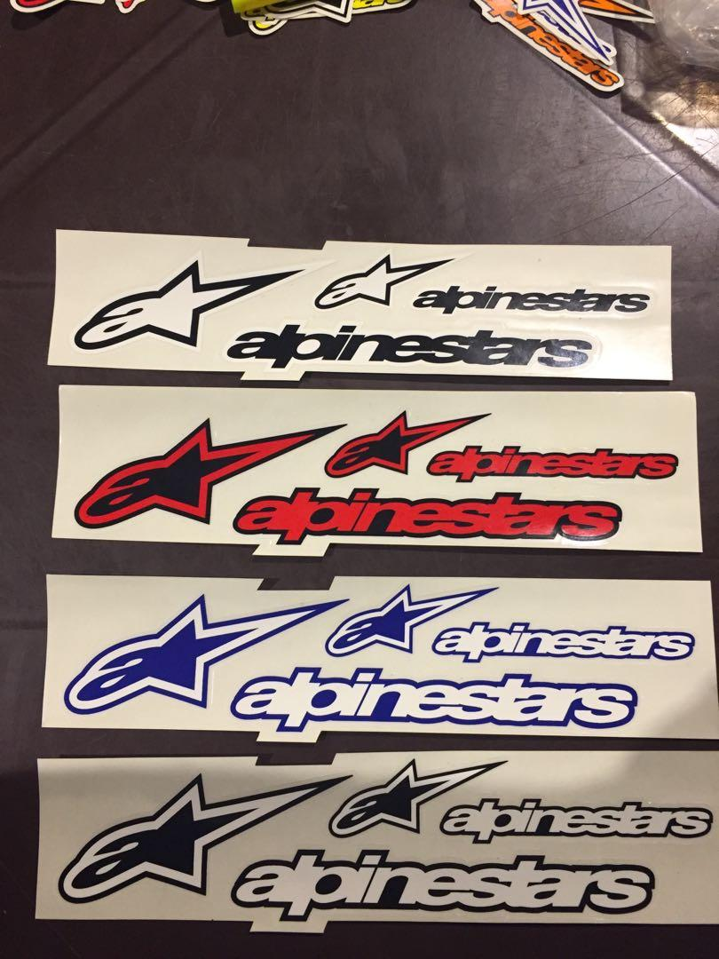 sticker alpinestar original made in italy