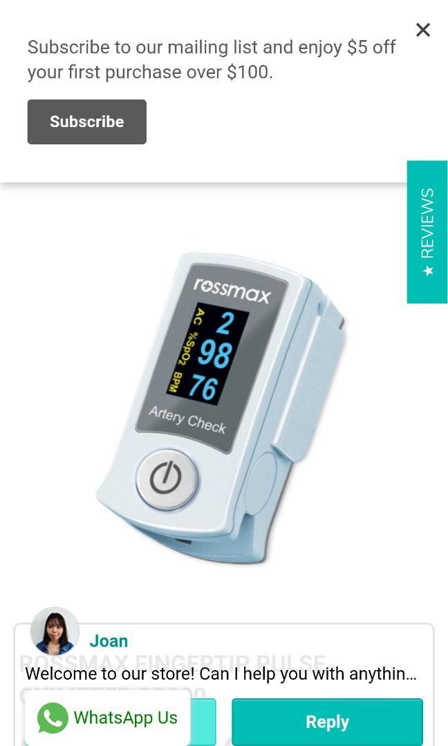 The Rossmax Fingertip Pulse Oximeter