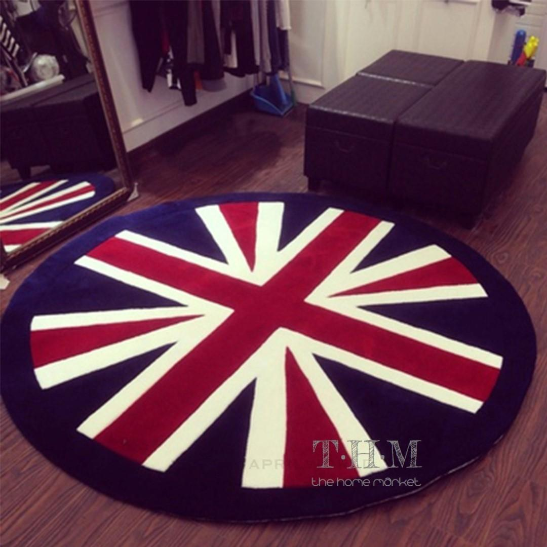 Union Jack Rug Vintage Contemporary