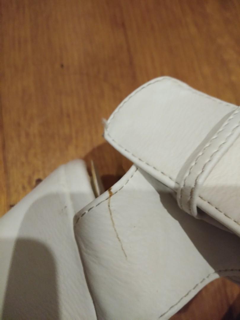 White Platform Block Heel Sandals