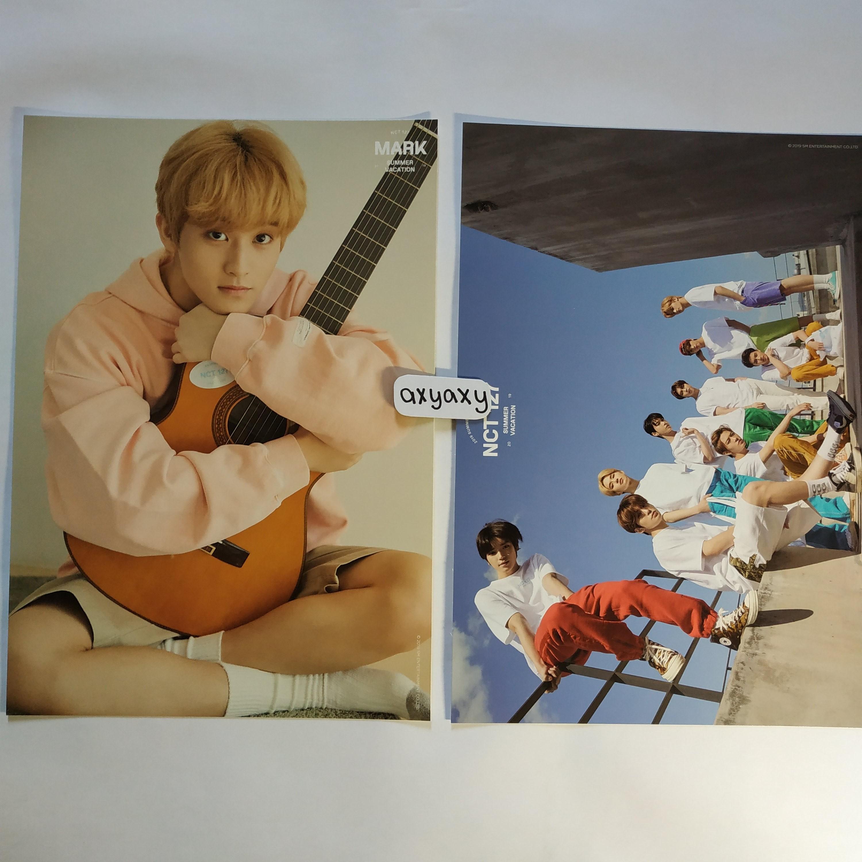[WTS] NCT 127 Summer Vacation Kit A4 Poster Mark + Group Set