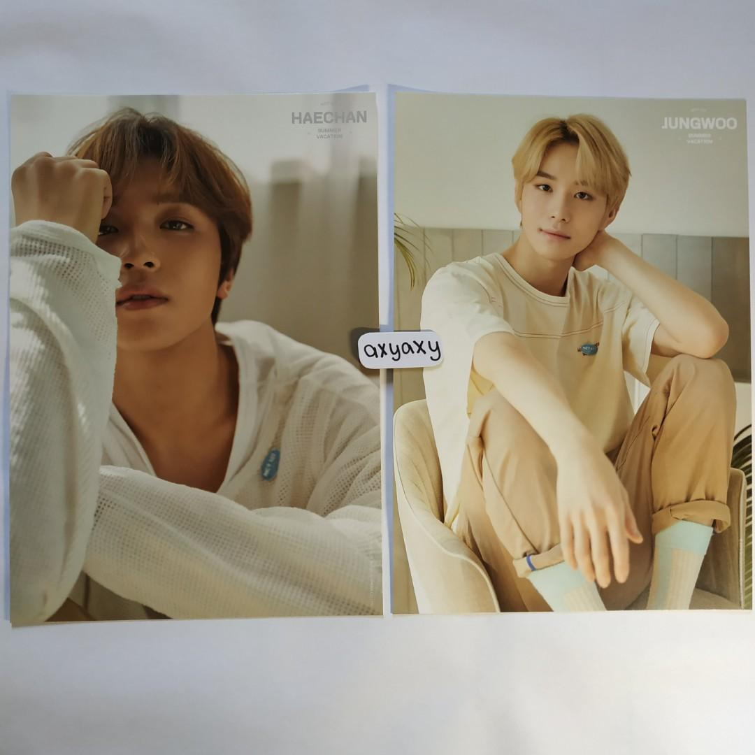 [WTS] NCT 127 Summer Vacation Kit A4 Poster Haechan + Jungwoo Set