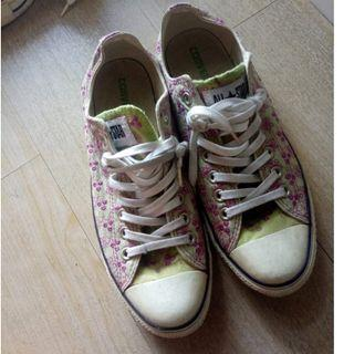 Converse Chuck Taylor All Star Low Unisex Green Flower Classic Sepatu Sneakers Asli Size 42