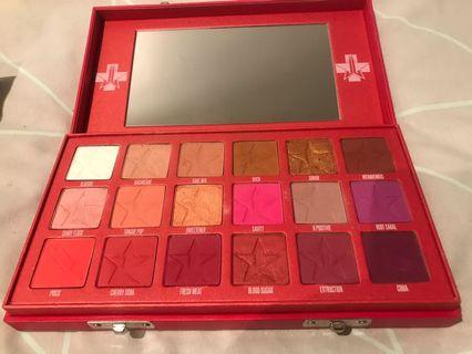 Jeffree Star blood sugar eyeshadow palette