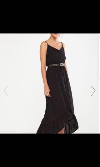 [Free post] High Low black maxi dress COTTON ON