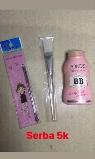 Bandana Masker Kuas Lipstik Wardah Pond's BB Magic Pencet Jerawat