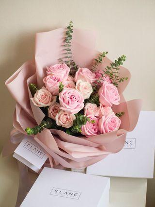 🚚 🔥HOT🔥 Pink Roses Bouquet | 🌹 KUNZITE - 18 Roses [ stay young and beautiful ] 愿你青春永驻,美丽永久
