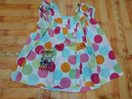 Dress Baby polkadot 3M