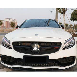 For Mercedes C63 - W205 GT Grille - Full Black  only one pcs