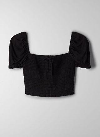 Aritzia Wilfred Smocked blouse