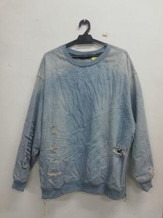 Zara Man style koyak koyak pullover
