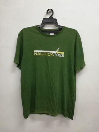 Nautica Sailing Biglogo spellout t shirt