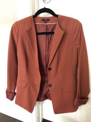 Gap rust red blazer