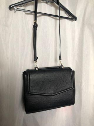 ZARA Convertible Backpack Crossbody Black