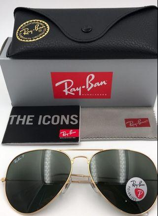 🚚 40% sale!! Authentic Ray Ban large aviator sunglass rb3025 (polarized)