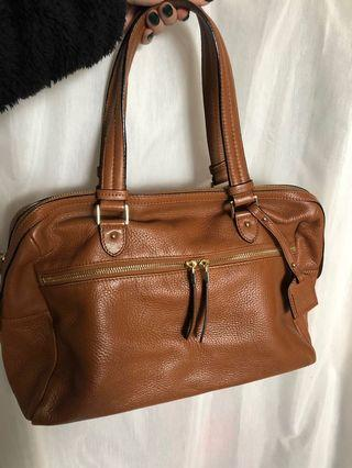 WITCHERY Tan Leather Bag
