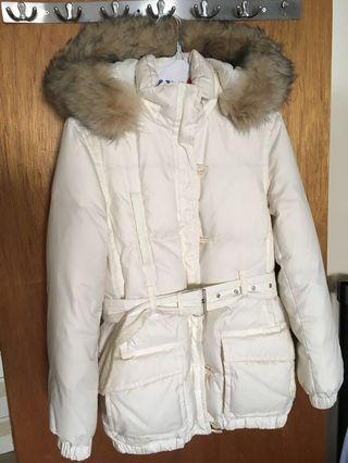 Winter Jacket (white, fits small to medium)