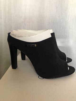 CALVIN KLEIN Black Mules Heels