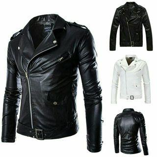 Men British Style PU Leather Jacket