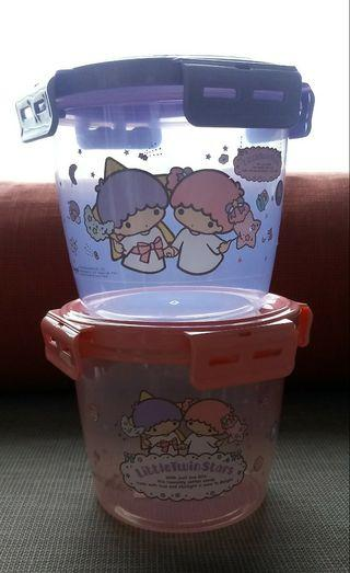 {Free NM} Little Twin Stars round containers with smart locks