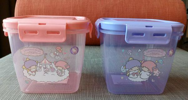 {Free NM} Little Twin Stars squarish containers with smart locks