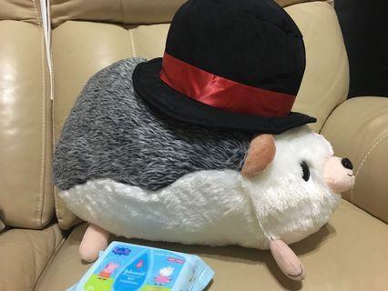 刺蝟 紳士帽 大公仔