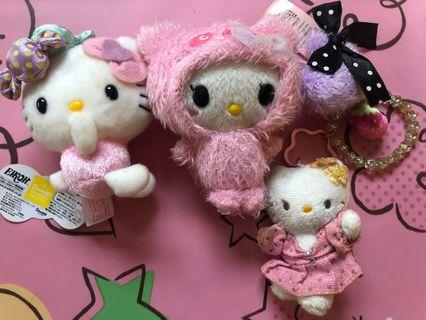 🚚 Sanrio Miniature Soft Toys (3 Sets New With Tag)