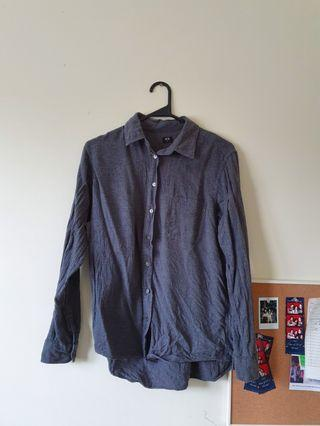 Uniqlo Grey Shirt