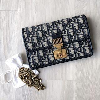 (Bargain!) LIMITED EDITION Dior (RP $1900+) DiorAddict Oblique Chain Clutch / Sling Bag