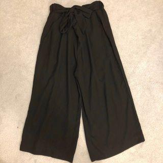 japanese style black flare pants