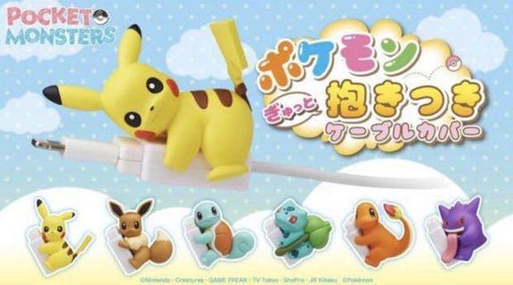 寵物小精靈 Pokemon 電話保護線 cable 比卡超 伊貝 車厘龜 小火龍 奇異種子 全六款 Pokemon World 大木博士 小智 扭蛋 一番 膠牌 立牌 食玩 Figma