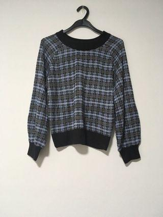 🚚 BN Blue Checkered Sweater