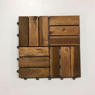 Solid timber floor tiles